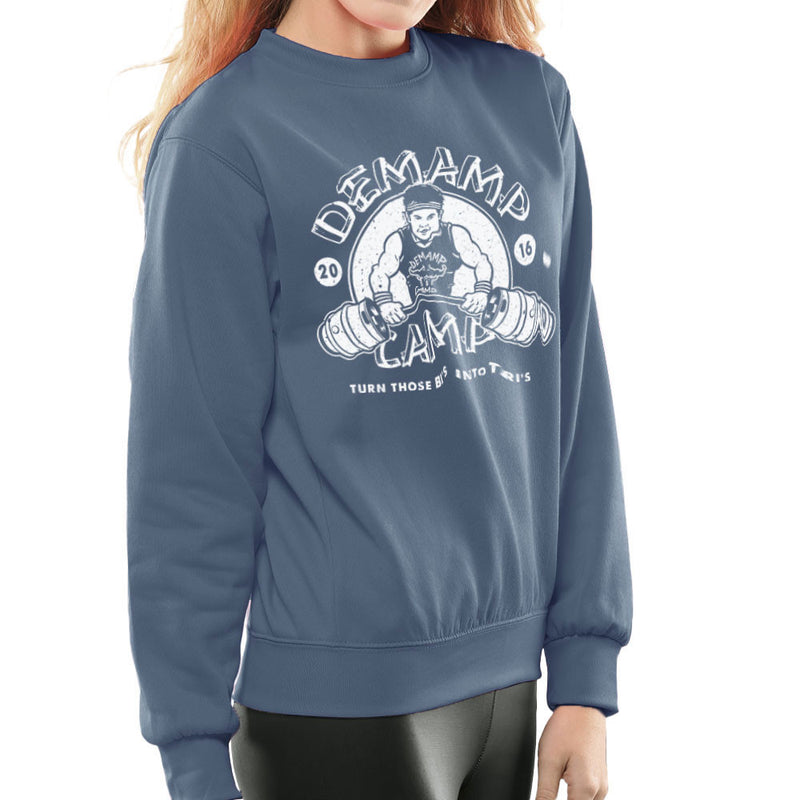 Demamp Camp Workaholics Women's Sweatshirt by Create Or Destroy - Cloud City 7