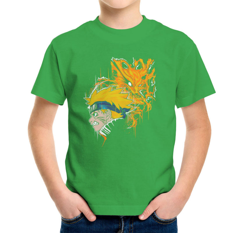 Demon Fox Naruto Kid's T-Shirt by Create Or Destroy - Cloud City 7