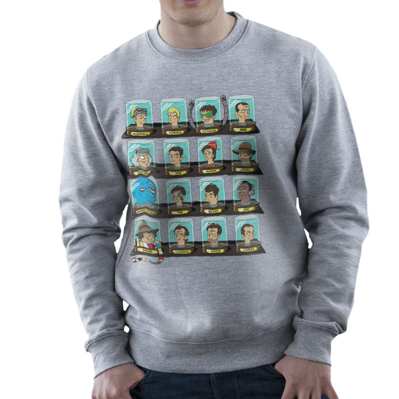DOC Futurama Pop Culture Heads In Jars Men's Sweatshirt by Create Or Destroy - Cloud City 7