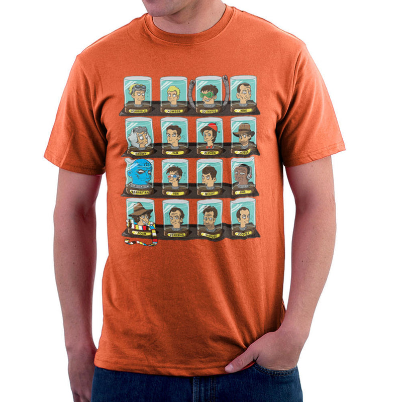 DOC Futurama Pop Culture Heads In Jars Men's T-Shirt by Create Or Destroy - Cloud City 7
