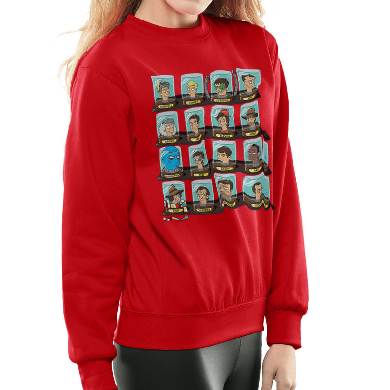 DOC Futurama Pop Culture Heads In Jars Women's Sweatshirt by Create Or Destroy - Cloud City 7