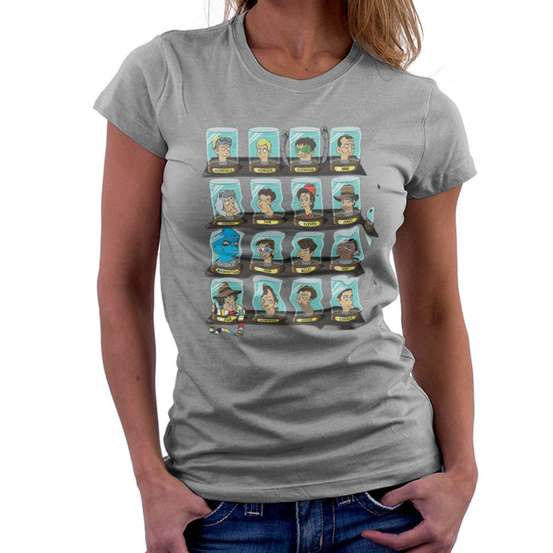 DOC Futurama Pop Culture Heads In Jars Women's T-Shirt by Create Or Destroy - Cloud City 7