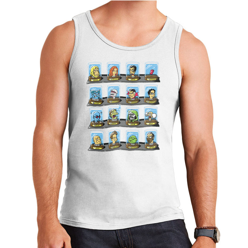 DOC Futurama Pop Culture Heads In Jars Two Men's Vest by Create Or Destroy - Cloud City 7