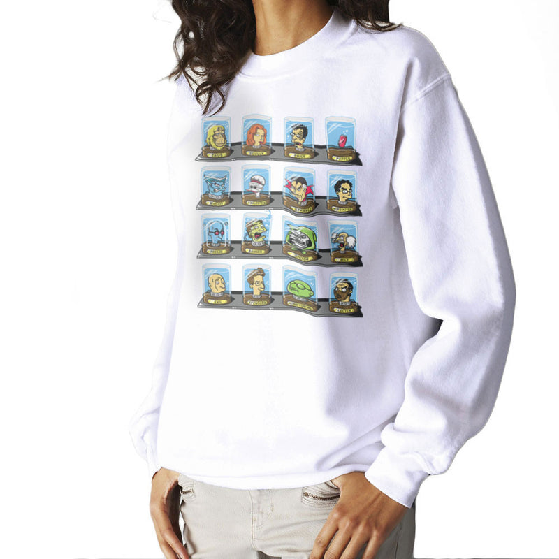 DOC Futurama Pop Culture Heads In Jars Two Women's Sweatshirt by Create Or Destroy - Cloud City 7