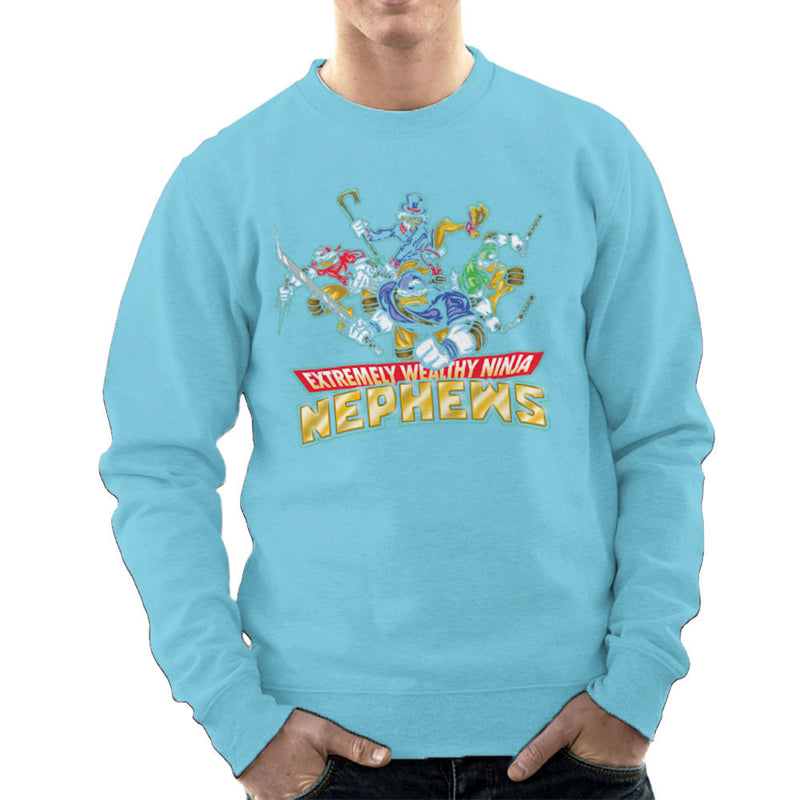 Extremely Wealthy Ninja Nephews DuckTales TMNT Men's Sweatshirt by Create Or Destroy - Cloud City 7