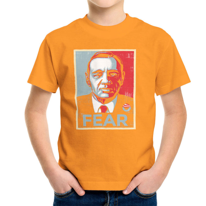 Fear Francis Underwood House Of Cards Kid's T-Shirt by Create Or Destroy - Cloud City 7