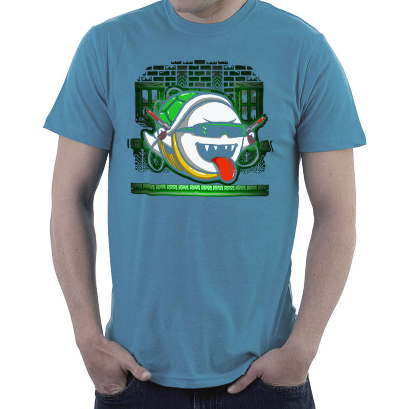 Ghost In The Shell Super Mario Bros Men's T-Shirt by Create Or Destroy - Cloud City 7