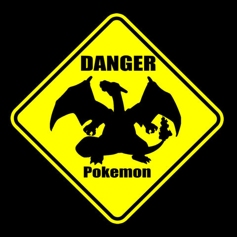 Pokemon Warning Sign Danger Charizard