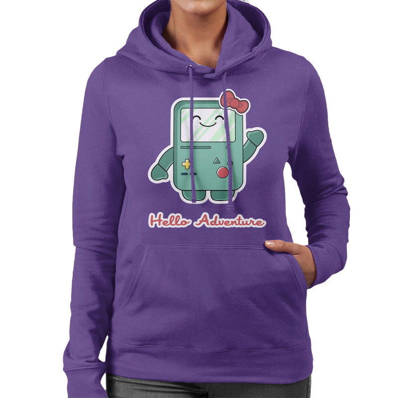 Adventure Time Hello BMO Games Console Women's Hooded Sweatshirt by Kempo24 - Cloud City 7