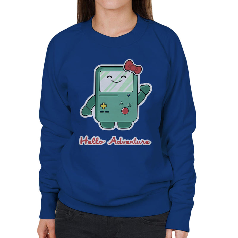 Adventure Time Hello BMO Games Console Women's Sweatshirt by Kempo24 - Cloud City 7