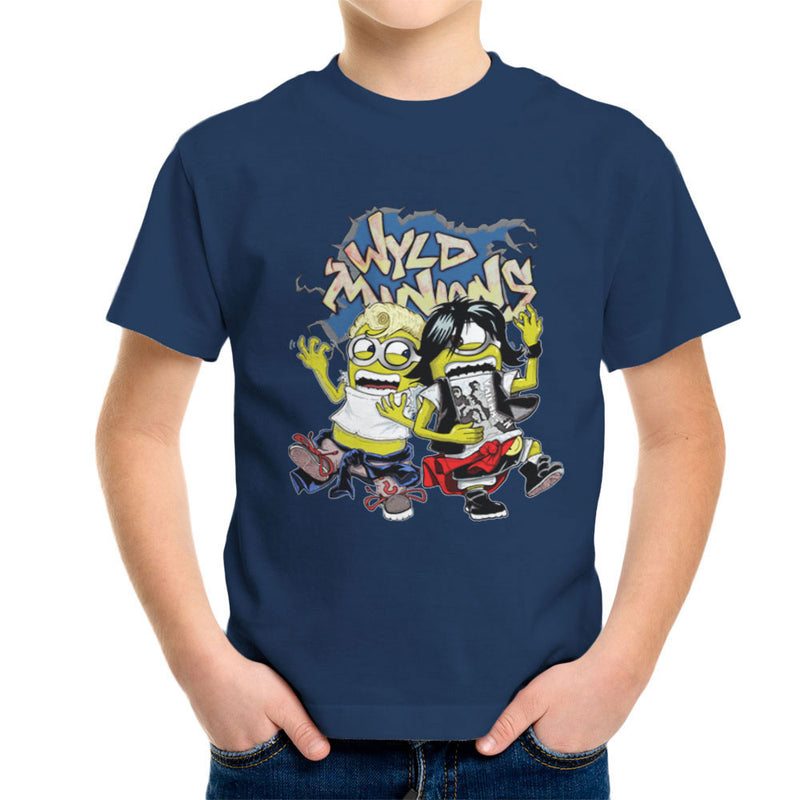 A Most Despicable Adventure Wyld Minions Bill And Ted Kid's T-Shirt by Mannart - Cloud City 7