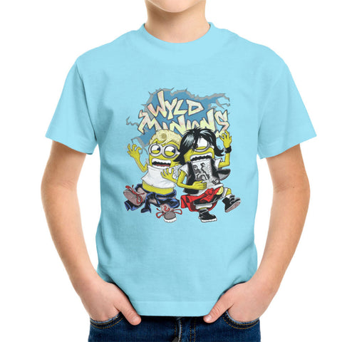 A Most Despicable Adventure Wyld Minions Bill And Ted Kid's T-Shirt