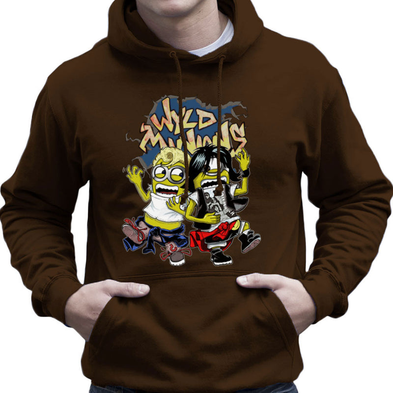 A Most Despicable Adventure Wyld Minions Bill And Ted Men's Hooded Sweatshirt by Mannart - Cloud City 7