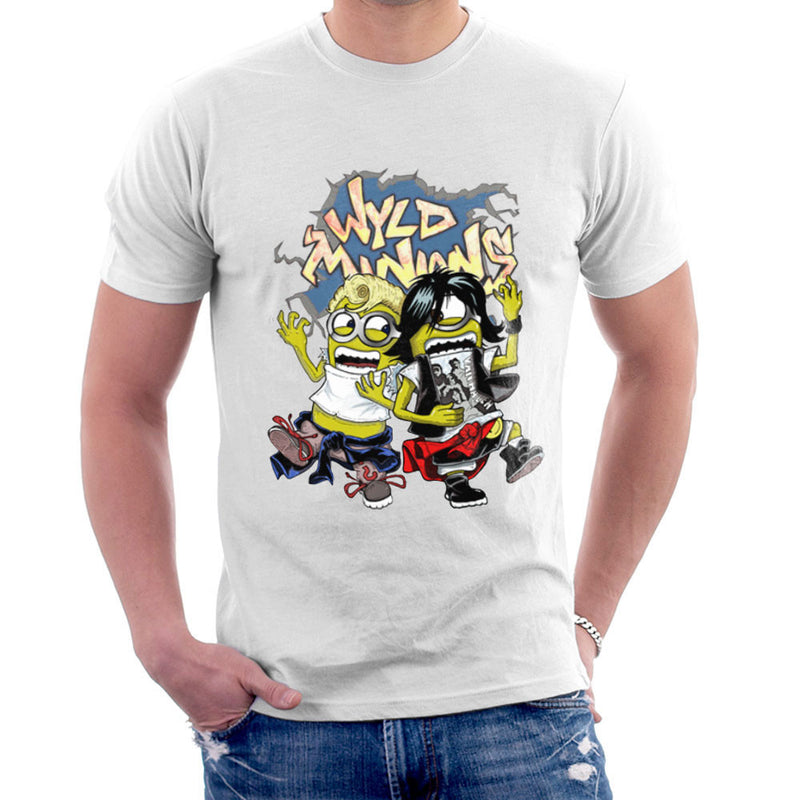 A Most Despicable Adventure Wyld Minions Bill And Ted Men's T-Shirt by Mannart - Cloud City 7