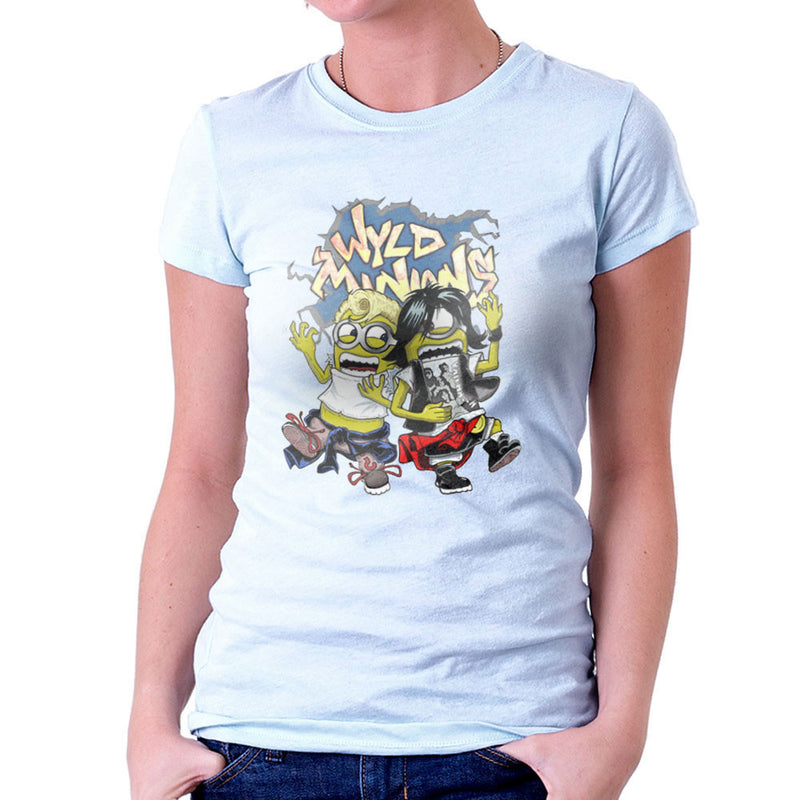 A Most Despicable Adventure Wyld Minions Bill And Ted Women's T-Shirt by Mannart - Cloud City 7