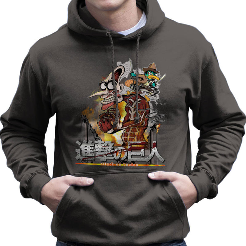 Attack On Doofen Phineas And Ferb Titan Men's Hooded Sweatshirt by Mannart - Cloud City 7