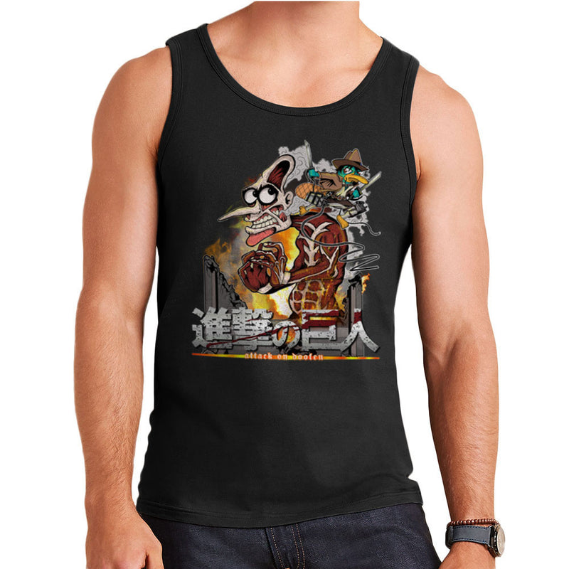 Attack On Doofen Phineas And Ferb Titan Men's Vest by Mannart - Cloud City 7