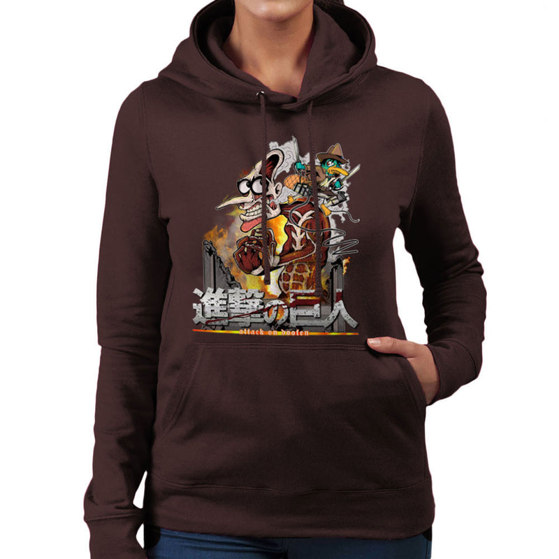 Attack On Doofen Phineas And Ferb Titan Women's Hooded Sweatshirt by Mannart - Cloud City 7