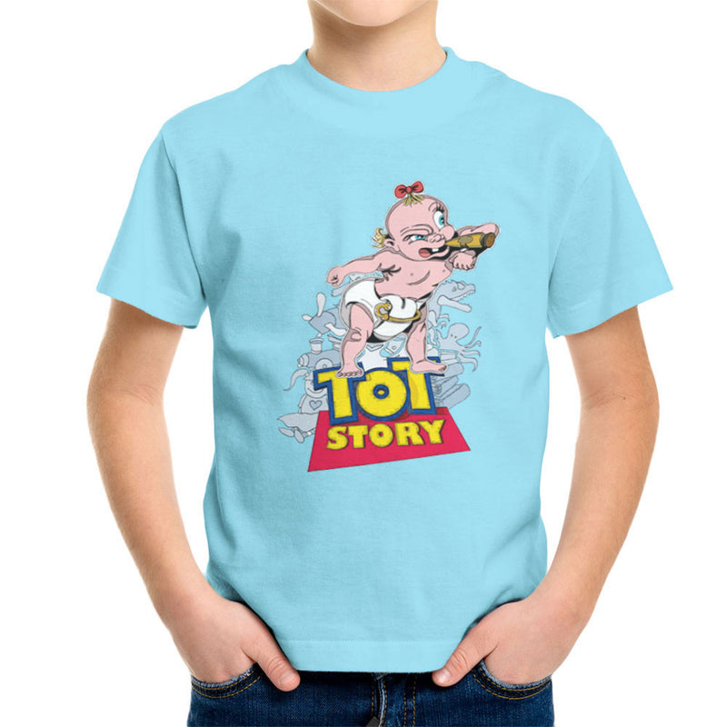 Baby Power Herman Tot Story Kid's T-Shirt by Mannart - Cloud City 7