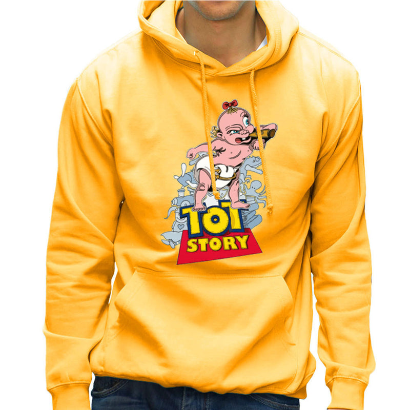 Baby Power Herman Tot Story Men's Hooded Sweatshirt by Mannart - Cloud City 7
