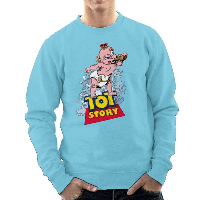 Baby Power Herman Tot Story Men's Sweatshirt by Mannart - Cloud City 7