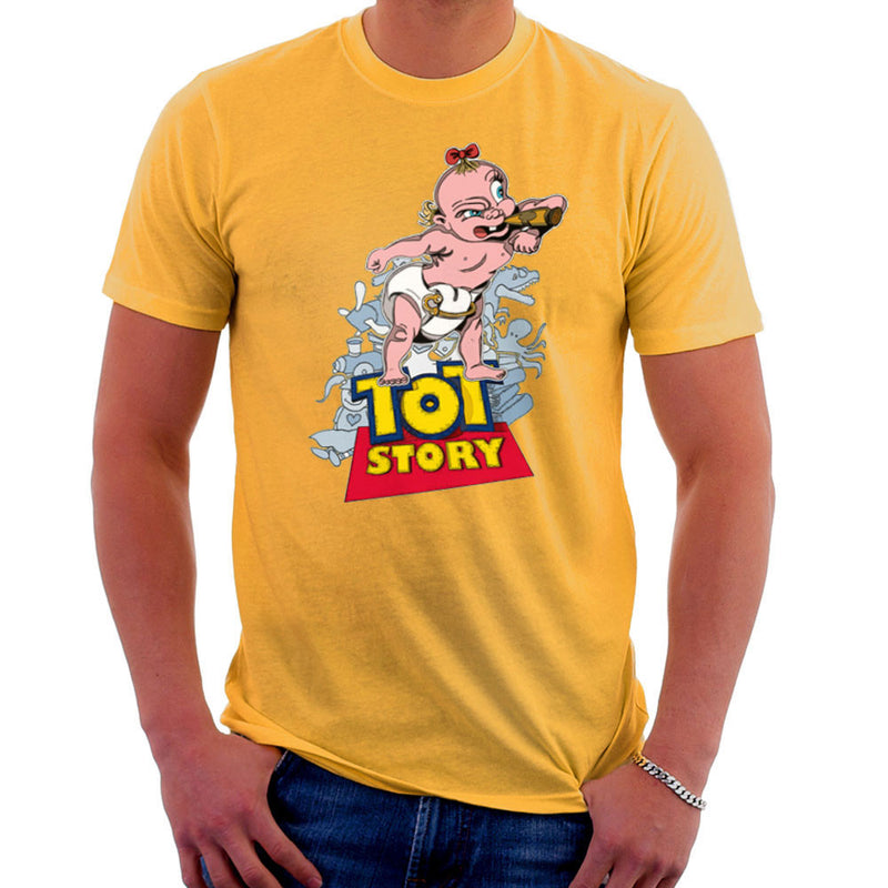 Baby Power Herman Tot Story Men's T-Shirt by Mannart - Cloud City 7