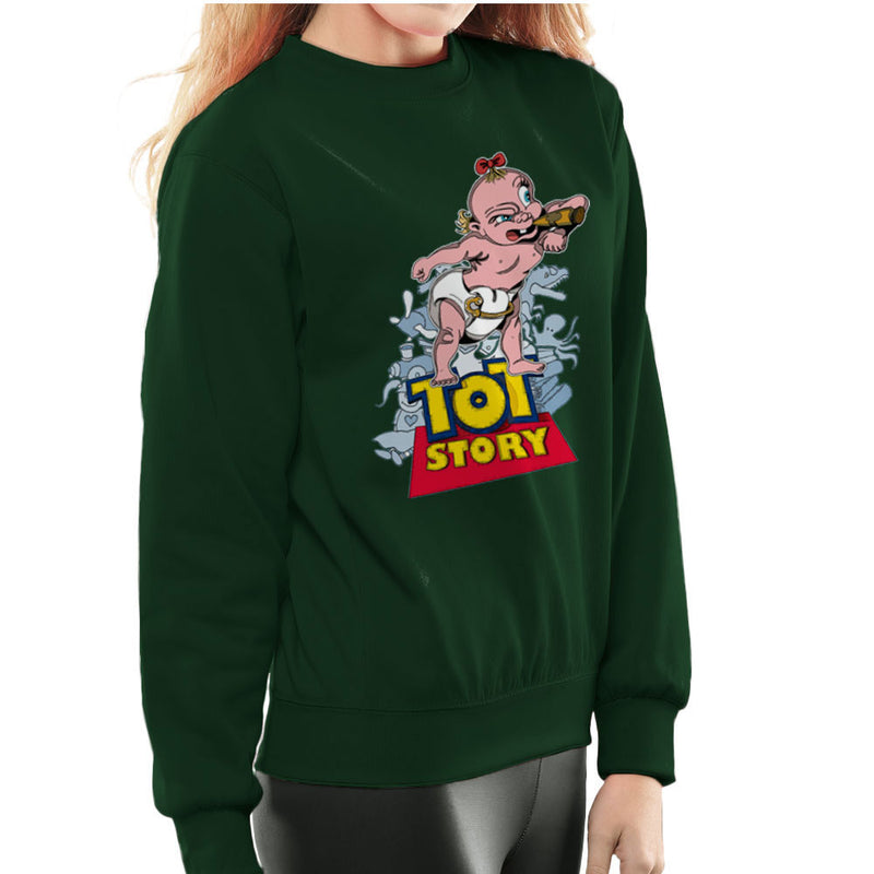 Baby Power Herman Tot Story Women's Sweatshirt by Mannart - Cloud City 7