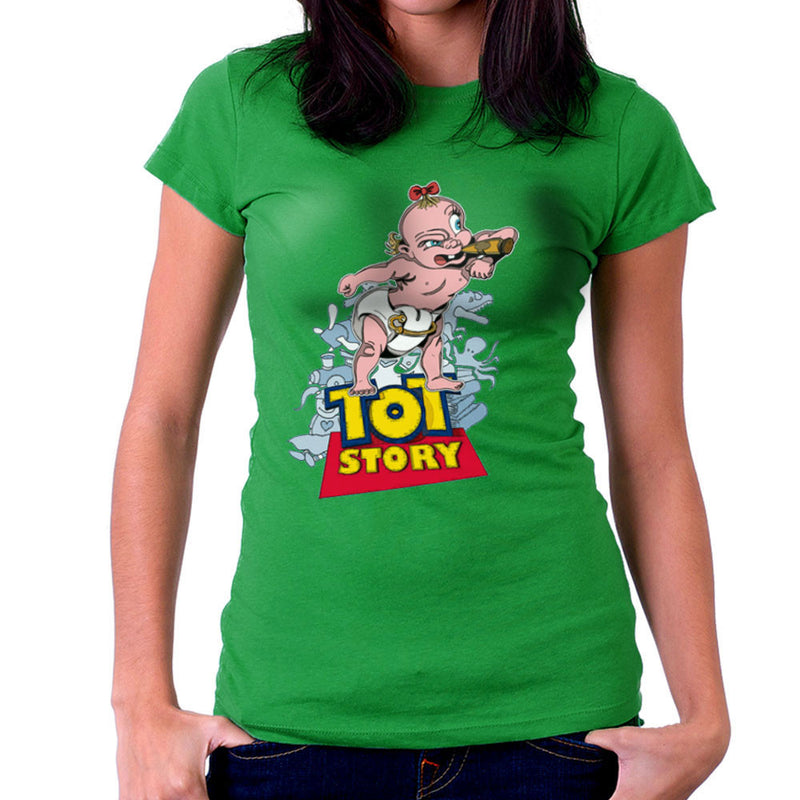 Baby Power Herman Tot Story Women's T-Shirt by Mannart - Cloud City 7