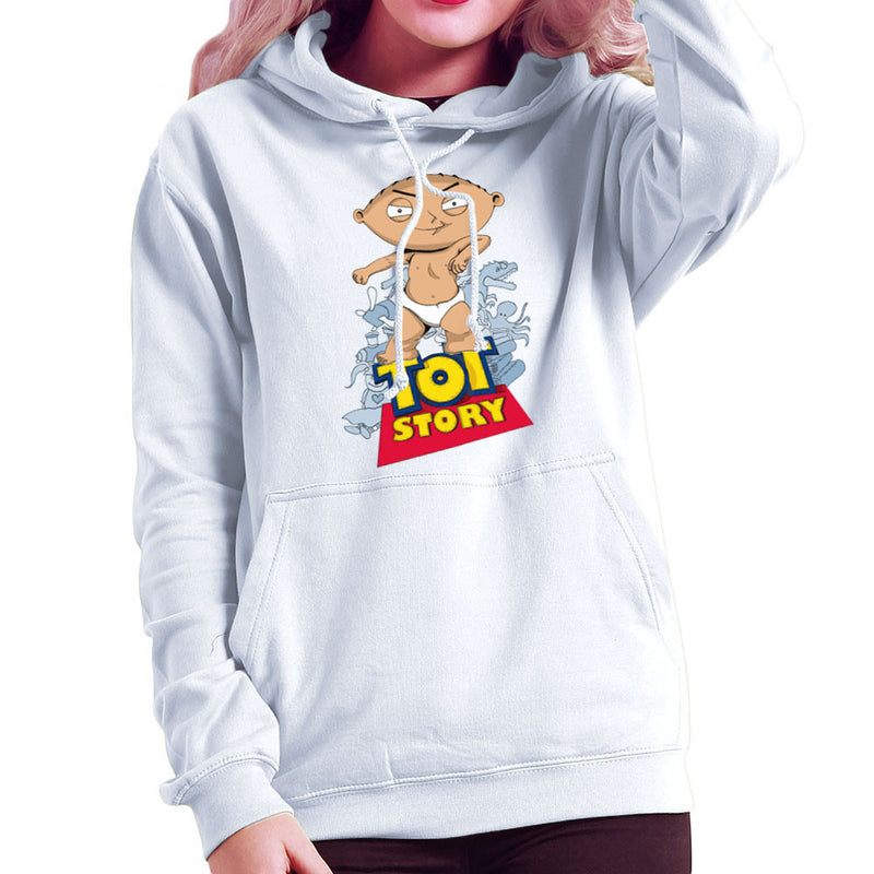 Baby Power Stewie Tot Story Women's Hooded Sweatshirt by Mannart - Cloud City 7