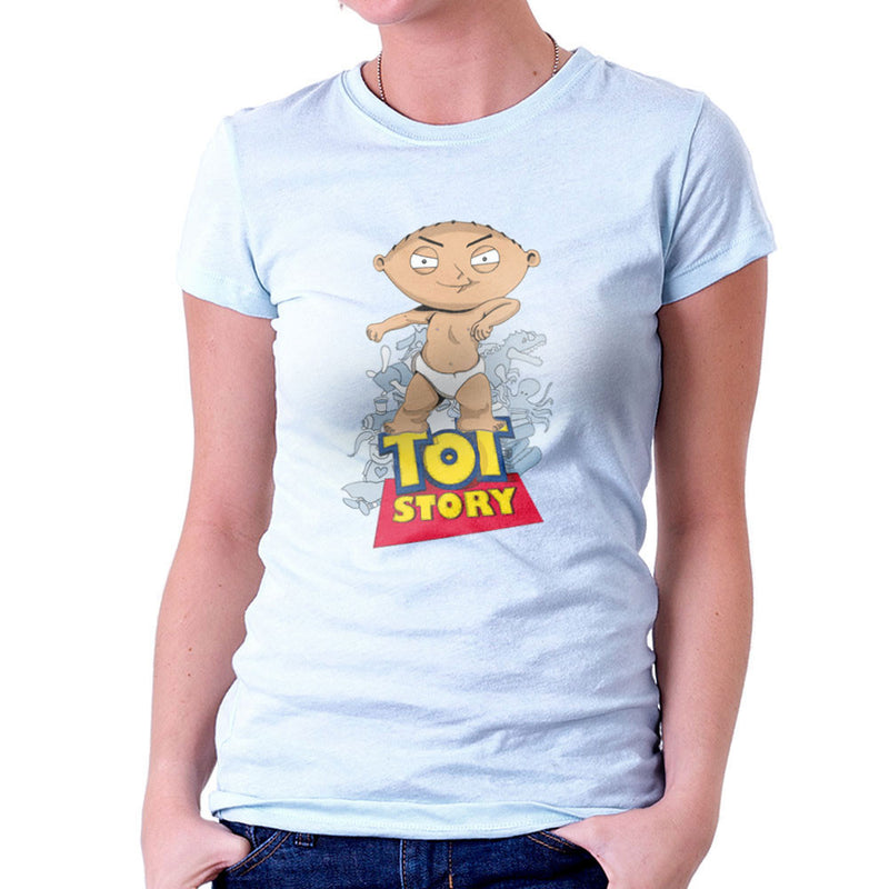 Baby Power Stewie Tot Story Women's T-Shirt by Mannart - Cloud City 7