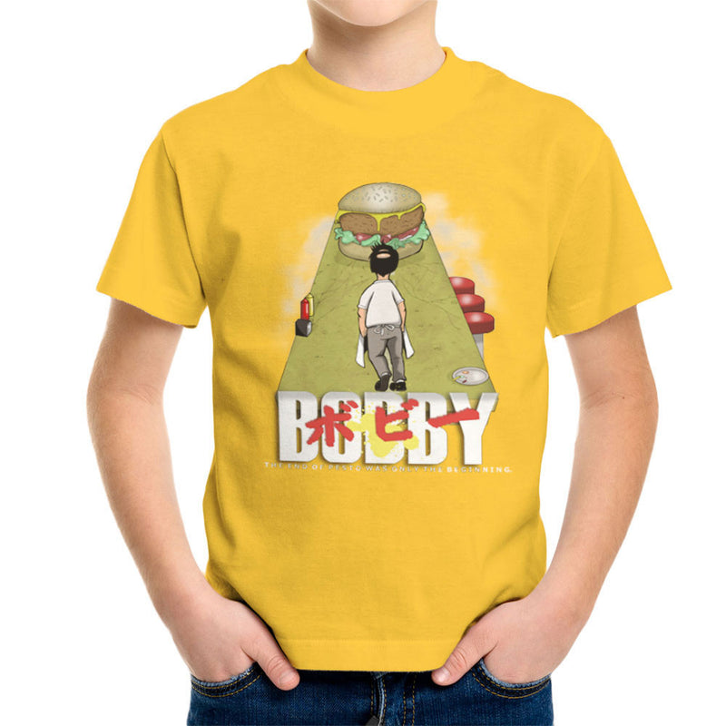 Bobby Akira Bobs Burgers Kid's T-Shirt by Mannart - Cloud City 7