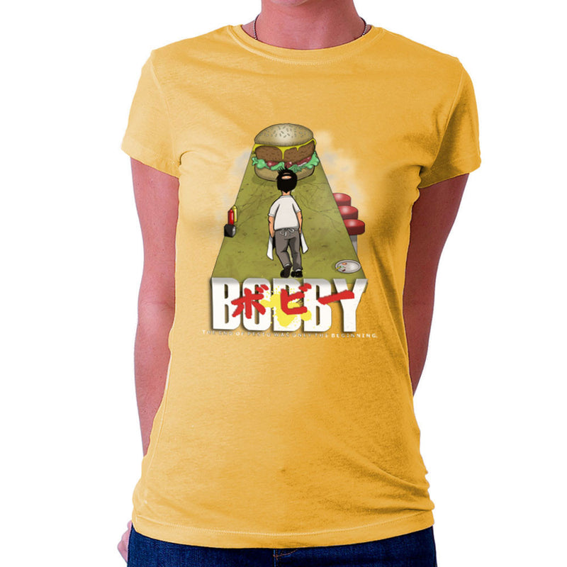 Bobby Akira Bobs Burgers Women's T-Shirt by Mannart - Cloud City 7