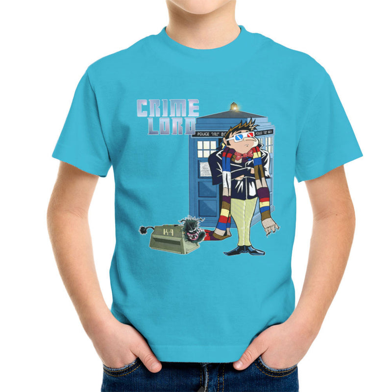 Crime Lord Doctor Who Tardis Gru Despicable Me Kid's T-Shirt by Mannart - Cloud City 7