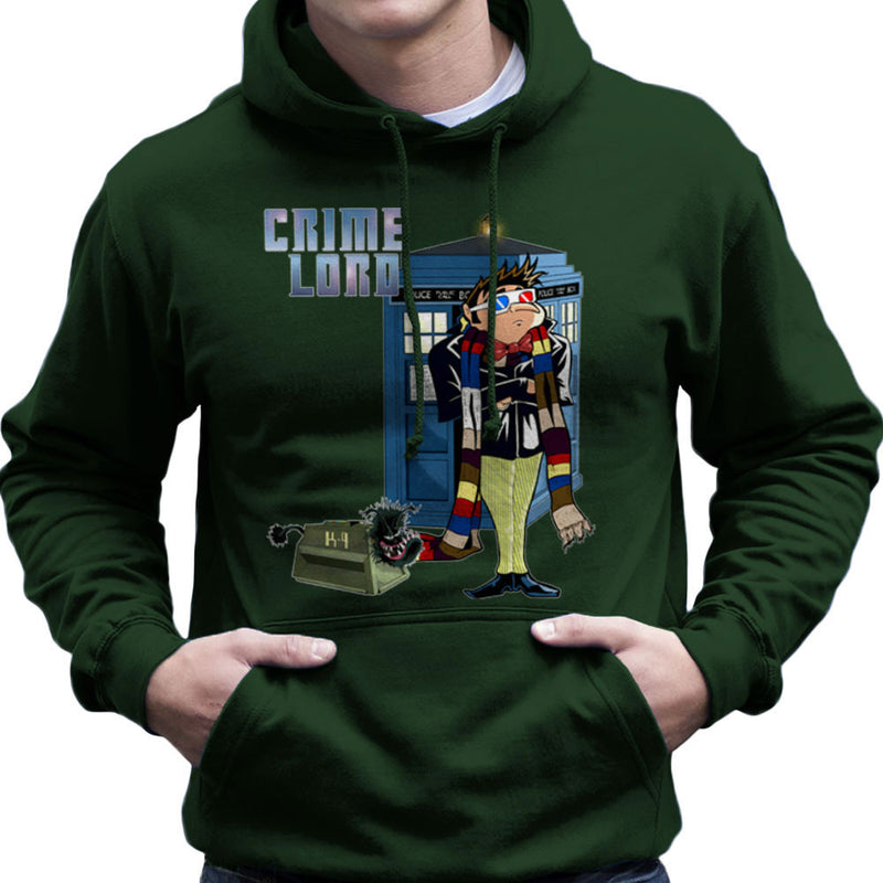 Crime Lord Doctor Who Tardis Gru Despicable Me Men's Hooded Sweatshirt by Mannart - Cloud City 7