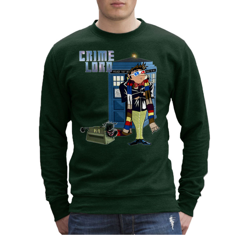 Crime Lord Doctor Who Tardis Gru Despicable Me Men's Sweatshirt by Mannart - Cloud City 7