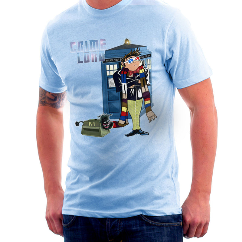 Crime Lord Doctor Who Tardis Gru Despicable Me Men's T-Shirt by Mannart - Cloud City 7