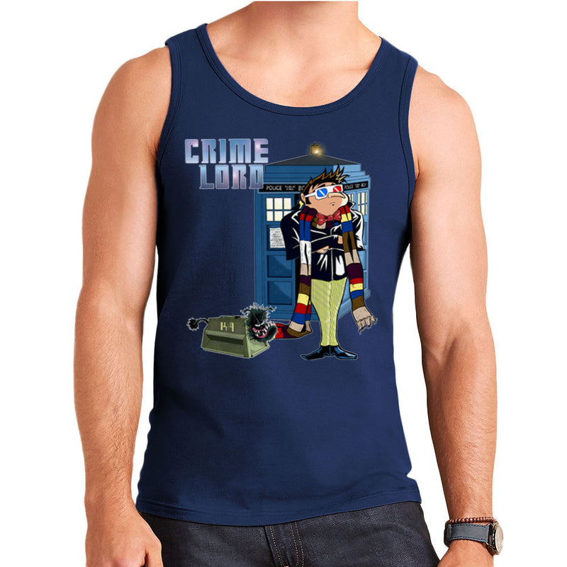 Crime Lord Doctor Who Tardis Gru Despicable Me Men's Vest by Mannart - Cloud City 7