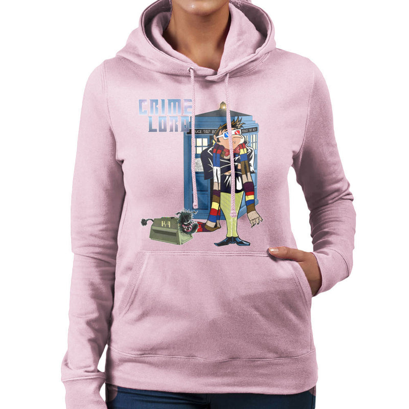 Crime Lord Doctor Who Tardis Gru Despicable Me Women's Hooded Sweatshirt by Mannart - Cloud City 7