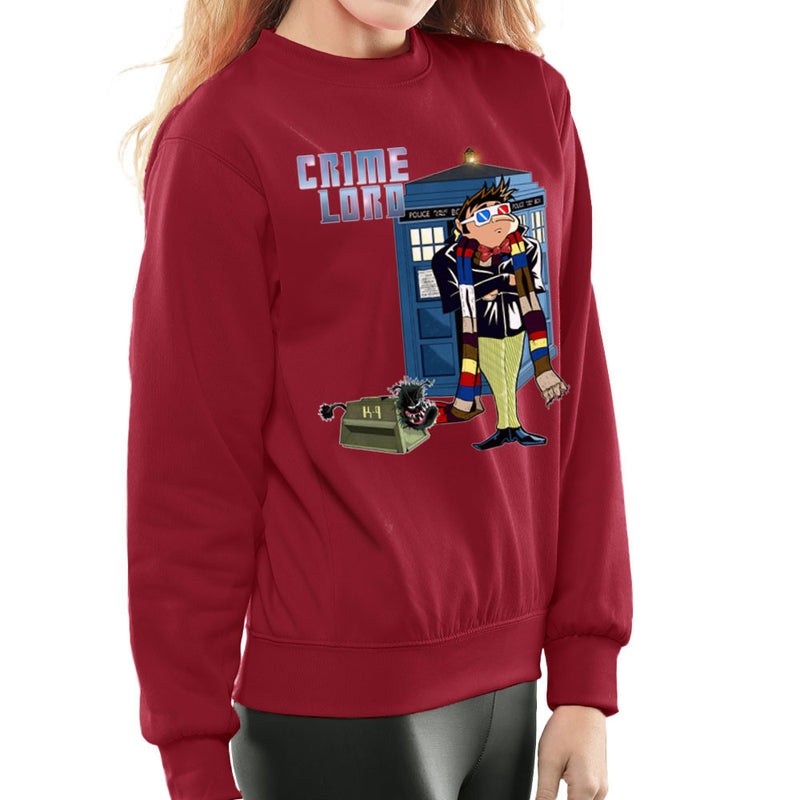 Crime Lord Doctor Who Tardis Gru Despicable Me Women's Sweatshirt by Mannart - Cloud City 7