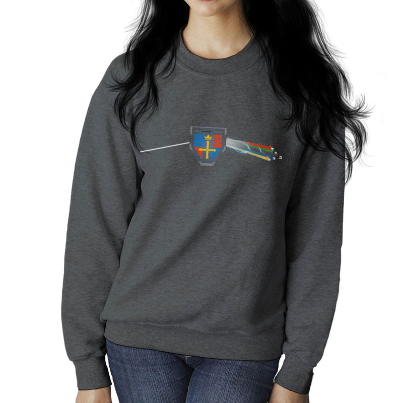 Dark Side Of The Lion Voltron Pink Floyd Women's Sweatshirt by Mannart - Cloud City 7