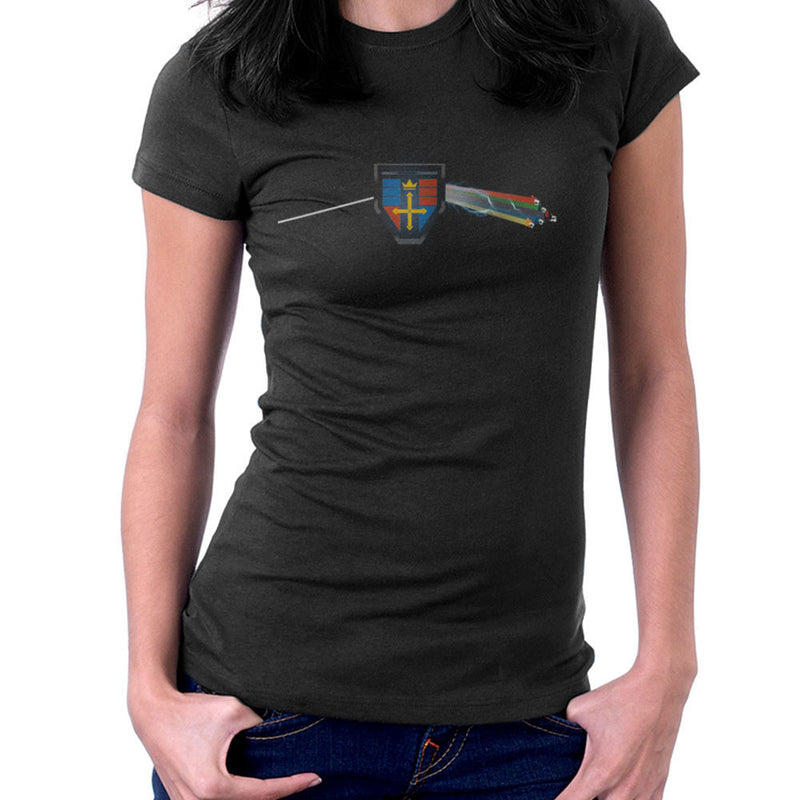 Dark Side Of The Lion Voltron Pink Floyd Women's T-Shirt by Mannart - Cloud City 7