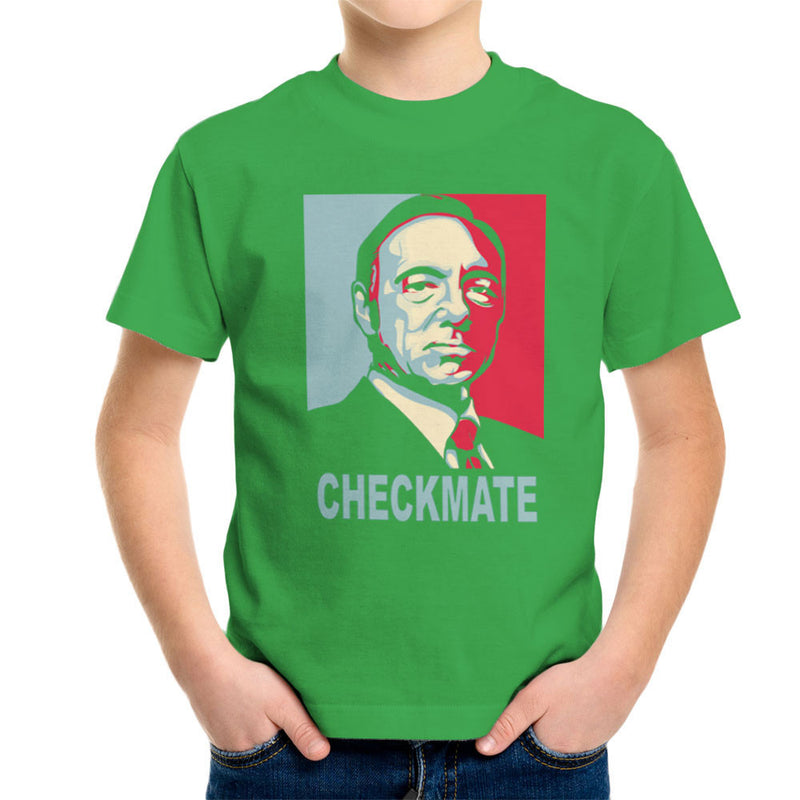 Checkmate House Of Cards Francis Underwood Kid's T-Shirt by Donnie - Cloud City 7