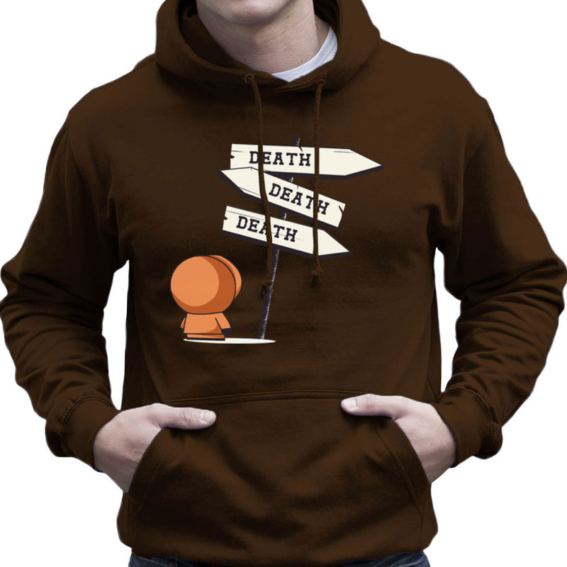 Death Signpost Kenny South Park Men's Hooded Sweatshirt by Donnie - Cloud City 7