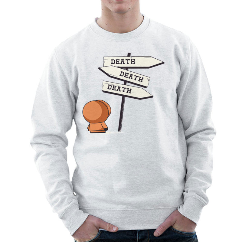 Death Signpost Kenny South Park Men's Sweatshirt by Donnie - Cloud City 7