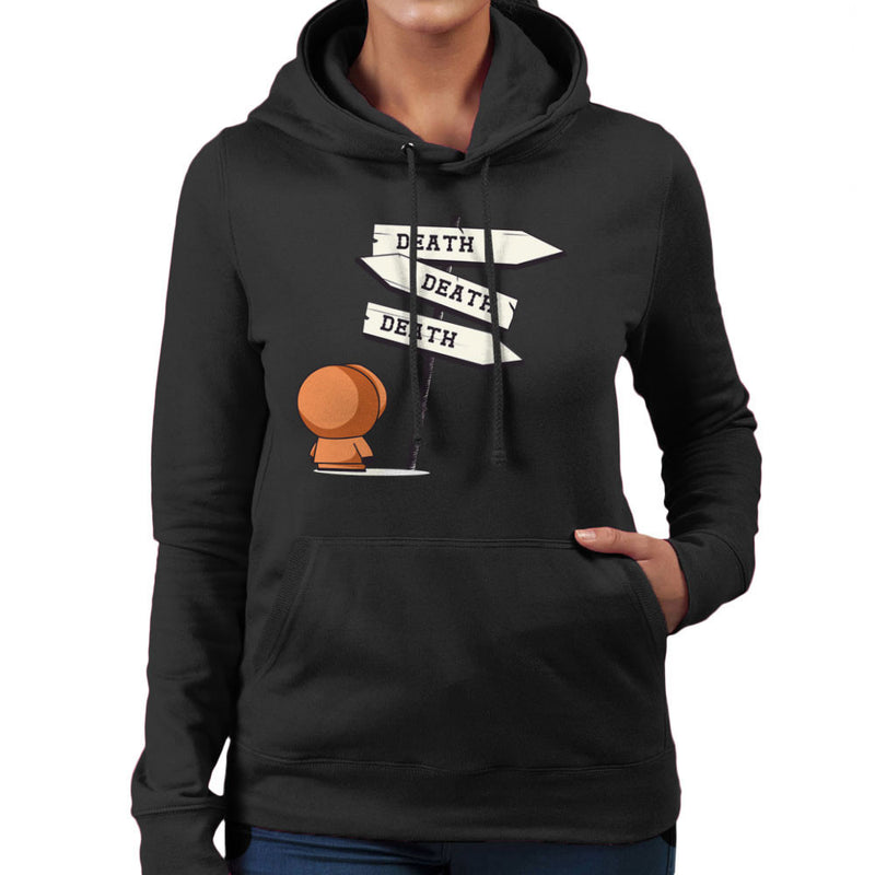Death Signpost Kenny South Park Women's Hooded Sweatshirt by Donnie - Cloud City 7
