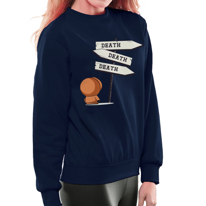 Death Signpost Kenny South Park Women's Sweatshirt by Donnie - Cloud City 7