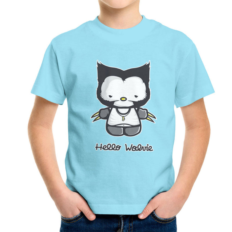 Hello Wolverine Kitty X Men Kid's T-Shirt by Donnie - Cloud City 7
