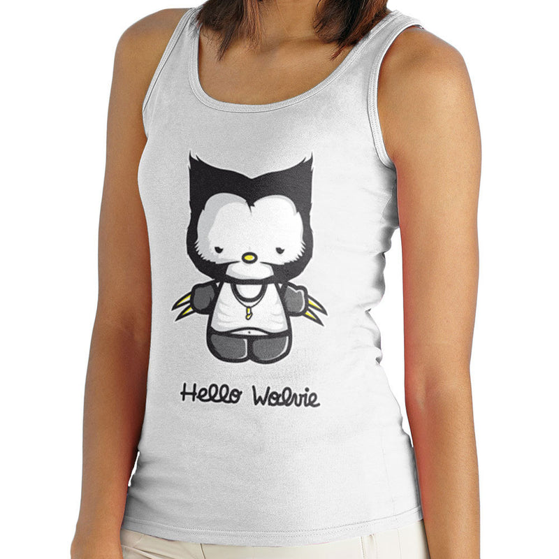 Hello Wolverine Kitty X Men Women's Vest by Donnie - Cloud City 7