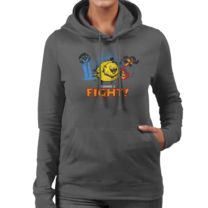 Aviary Kombat Mortal Angry Birds Women's Hooded Sweatshirt by AndreusD - Cloud City 7