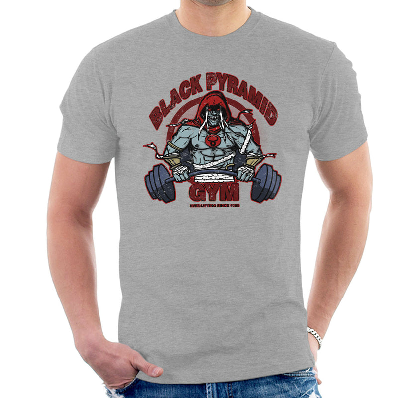 Black Pyramid Gym Mumm Ra Thundercats Men's T-Shirt by AndreusD - Cloud City 7